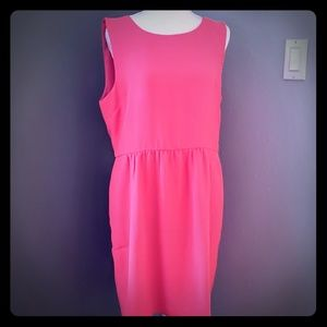 J. Crew Factory Sleeveless Ruched Dress - size 14